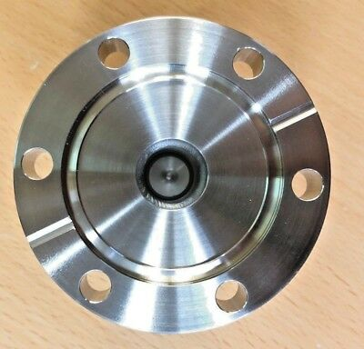 """2.75"""" Conflat Flange to 0.5"""" Tube OD Quick Coupling UHV Stainless Steel"""