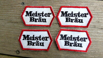 Vintage MEISTER BRAU BEER PATCH Lot 4 Embroidered Meister Brau Patches
