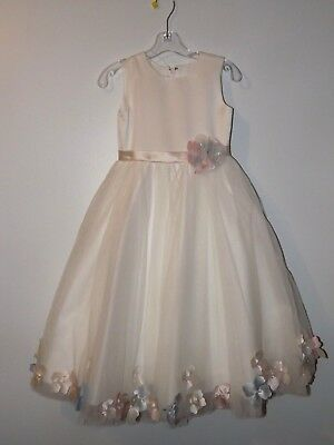 Nwt Joan Calabrese Communion Flower Girl 6 Layer Dress Size 6 Ivory Mon Cheri