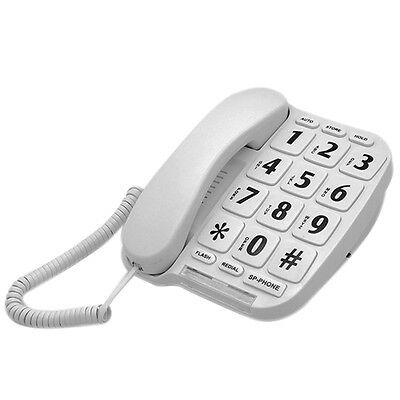 KerLiTar LK-P011W Big Button Amplified Corded Phone for Elderly Hearing Impaired