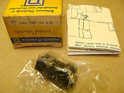 New Square D 9999 R-20 No Auxiliary Contact Electrical Interlock Type R-20