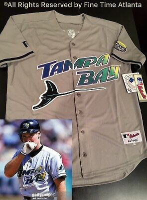 NEW Wade Boggs Tampa Bay Devil Rays Men s M N 1998-2000 Style Road Retro  Jersey 61cf59ce1