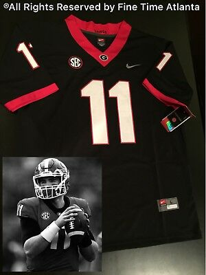 NEW Jake Fromm Georgia Bulldogs UGA Mens Black Out Jersey Chubb Gurley  Holyfield 2be26b17c