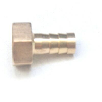 Straight 12 MM ID Barb x 1/2 BSPT British Female Fitting Brass Water Oil Gas Air