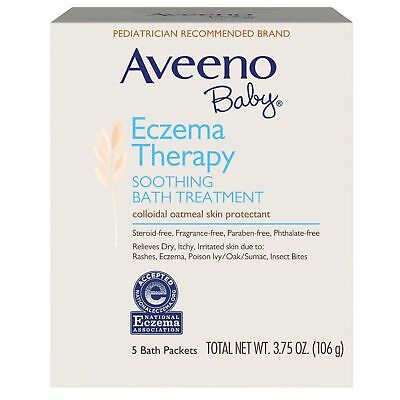 Aveeno Baby Eczema Therapy Soothing Bath Treatment 5 Bath Packets