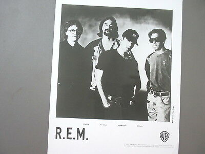 R.E.M. promo photo 8 X 10 glossy black & white 1992 !