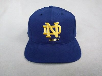 Vintage University Of Notre Dame Sports Specialties 7 3/8 Embroidered Navy Blue