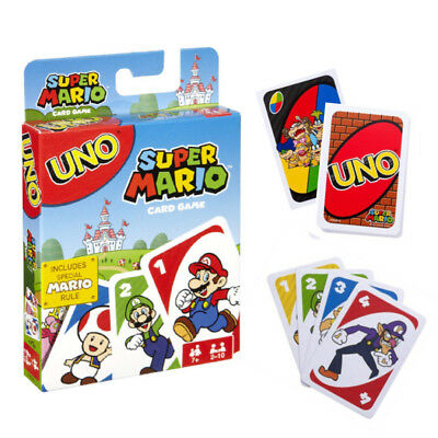 Super Mario Bros Uno Game Playing Card Special Rules Instructions