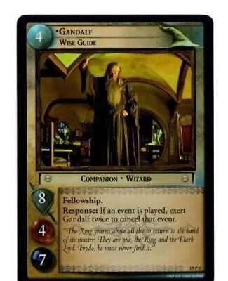 LORD OF THE RINGS LOTR TCG AE AGES END 19P8 GANDALF, Wise Guide CARD