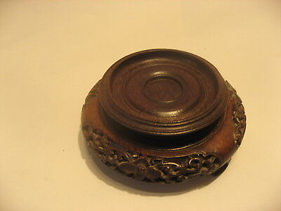 Antique Chinese Vase Stand In Cherry Wood 400 Picclick Uk