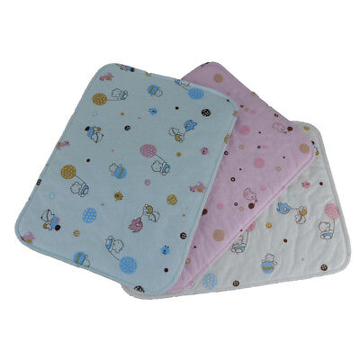 Breathable Waterproof Baby Infant Urine Mat Cotton Diaper Nappy Change Pad Cover