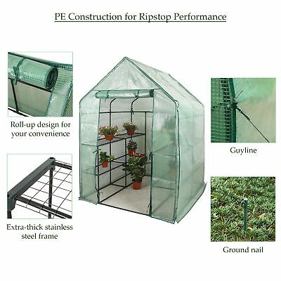 "Deluxe Walk-in Greenhouse Portable Garden, 56"" L x 56"" W x 76"" H tet"