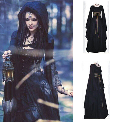 New Ladies Medieval Gown Renaissance Princess Party Dress Gothic Cosplay Costume