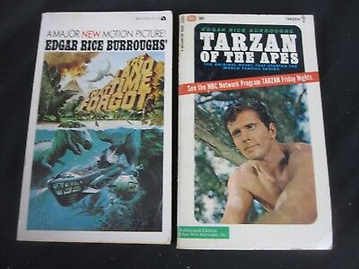 Lot of 2 The Land That Time Forgot & Tarzan of the Apes PB Edgar R Burroughs
