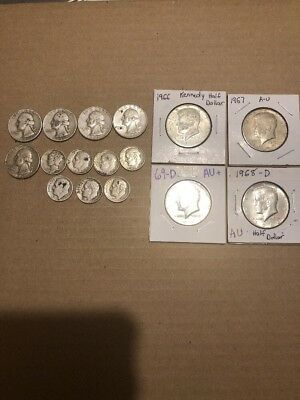 Lot Of 90% Silver And 40% Silver Coins
