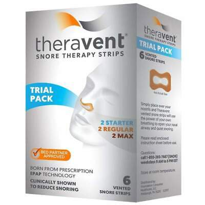 Theravent Snore Therapy Strips, Trial Pack, 6 ea