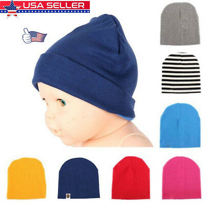 22 Colors Unisex Newborn Kid Child Baby Soft Cotton Hat Boy/Girl Toddler Cap USA