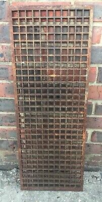 A Large Cast Iron, Victorian, Gothic Style,  Register Ventilating Grate.