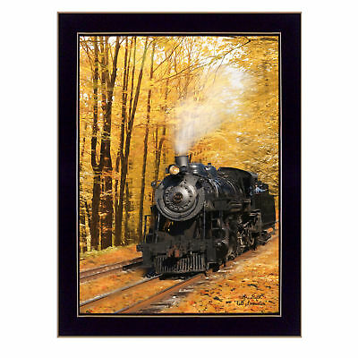 """""""Fall Locomotive"""" By Lori Deiter, Printed Wall Art, Ready To Hang Framed Post..."""