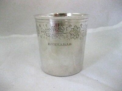 ANTIQUE FRENCH SILVER BEAKER  Circa 1815