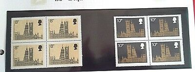 British Stamps,2 Blocks Of 4-C0Mmonwealth Conference   V-F-M  N-H