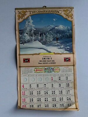 Vintage 1970 Lehigh Valley Coal Anthracite Champion Alamanac Calander