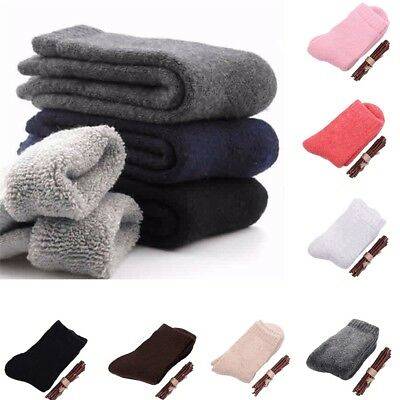 Men Women Thicken Thermal Wool Cashmere Casual Sports Winter Hiking Warm