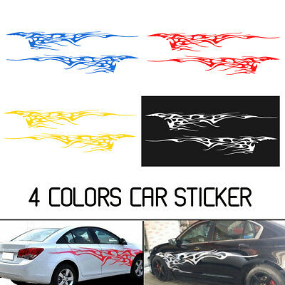 Pair 102''X14'' Car Decal Vinyl Graphics Two Side Stickers Decal Sticker 4 Color