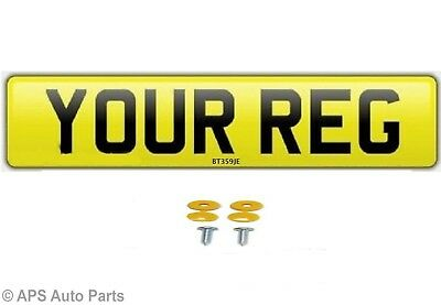 Car Van Trailer Number Plate Single Rear Yellow Road Legal MOT British Standard