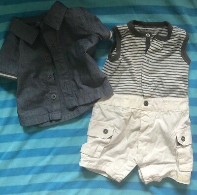 Timberland Short Romper And Shirt Size 3m