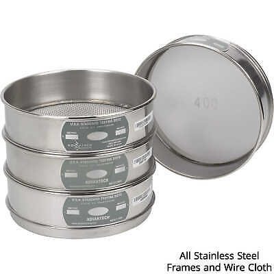 Advantech Manufacturing Stainless Steel Testing Sieve #40 Sieve Designation 4...
