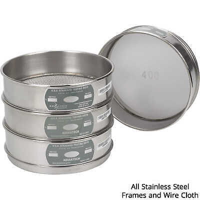 "Advantech Manufacturing Stainless Steel Testing Sieve 3"" Sieve Designation 75..."