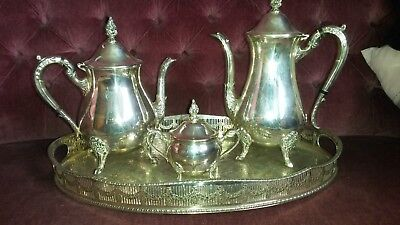 Viners silver plated Tea set and tray