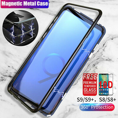 360 Magnetic Adsorption Metal Bumper Case Cover For Samsung Galaxy Note 9 S9 S8+
