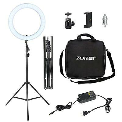 Portable Led  Ring Dimmable Light For Camera Photograph Video With Carry Bag New