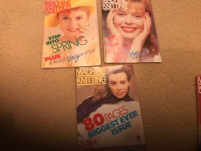 Machine Knitting Monthly - 3 issues from 1987 - Good Condition