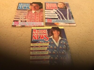 Machine Knitting News - 3 issues from 1987 - Good Condition