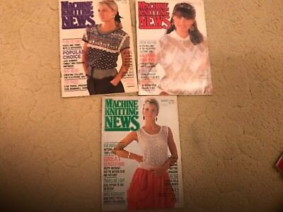 Machine Knitting News - 3 issues from 1988 - Good Condition