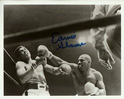 EARNIE SHAVERS hand-signed MUHAMMAD ALI KNOCKDOWN 8x10 closeup w/ coa IN-PERSON