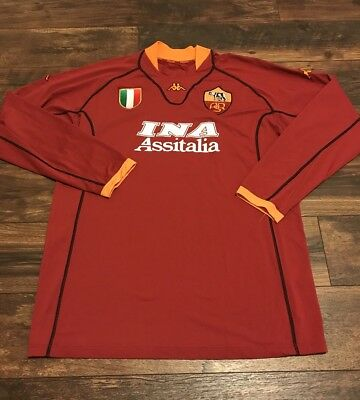 5f97ecce4 Vtg Kappa AS Roma Jersey Shirt Mens Large Assitalia Soccer Football Futbol  ASR