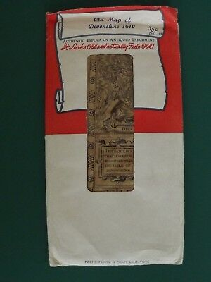 Old Devonshire 1610 Map Authentic Replica on Antiquated parchment