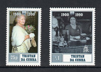 Tristan da Cunha - 1990, 90th Birthday of the Queen Mother, MNH