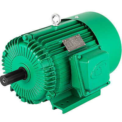 Electric Motor 5 HP 3 Phase 1750 RPM 1.125''  184T frame Keyed shaft Waterproof