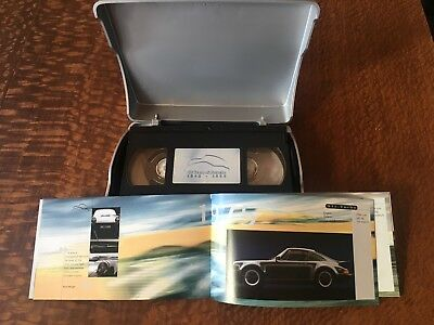 50 years of Porsche VHS tape and booklet. 1948-1988