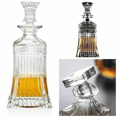 Elegant Liquor Scotch Brandy Wine Whiskey Decanter Beverage Dispenser Glass Stop