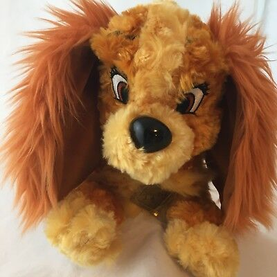 Disney Parks Lady and the Tramp Dog Plush Stuffed Animal Toy 14 Inch