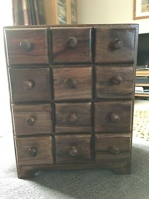 Apothecary 12 Drawer Unit. Excellent condition.