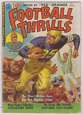 Football Thrills #1 - Edited By Red Grange - Very Good Condition*