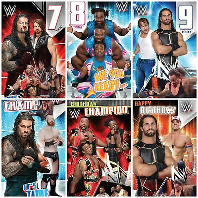 Wwe Birthday Card Boys Wrestling Party Age Official Envelope Sport