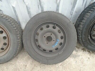 FORD FIESTA 2002 to 2017 STEEL SPARE WHEEL WITH GOOD 185/65/14 PART WORN TYRE